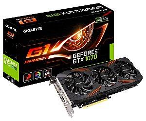 Placa de Vídeo GForce GTX 1070 G1 GAMING Gigabyte