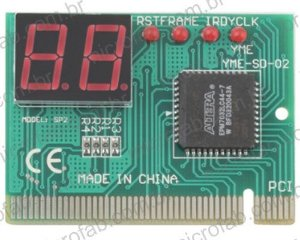 Placa de diagnóstico PC Analyzer para placa mãe com PCI
