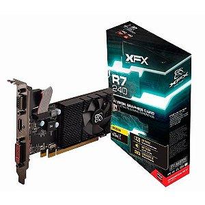 Placa de Vídeo R7 240d 1gb Ddr3 Core Radeon Low Profile 600m Xfx R7240dzlf2