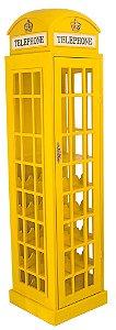 Adega Cabine Telefônica Amarela em Madeira - Oldway