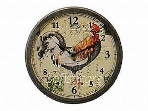 Relógio de Parede Galo Pequeno em Metal - Oldway