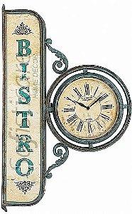 Relógio de Parede Bistro Estilo Estação em Metal - Oldway