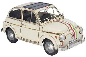 Miniatura Fiat 500 Branco - Oldway