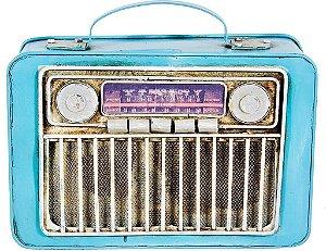 Cofre Miniatura de Radio Retro Azul - Oldway