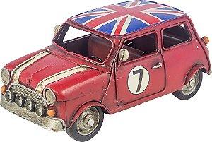 Miniatura Carro Inglaterra Mini Cooper Vermelho - Oldway