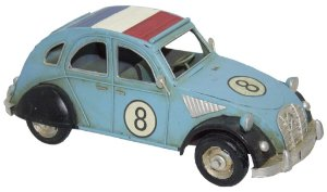 Miniatura Carro França Citroen Cup Azul - Oldway