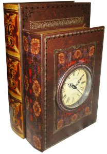 LIVRO (BOOK BOX) 1PÇ RELÓGIO OLDWAY - REF: 117.033
