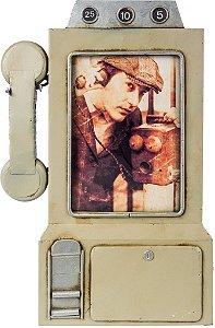 PORTA RETRATO TELEFONE CINZA OLDWAY - REF: 117.070