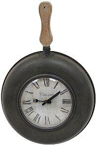 Relógio de Parede Frigideira com Ponteiros de Talheres - Oldway