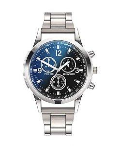 Relógios Masculino Luxo Quartzo em Aço Inoxidável - 2 Cores