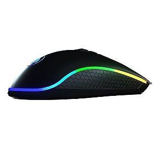 MOUSE GAMER KING COBRA RGB PTO M711-FPS