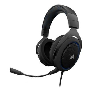 Headset Corsair Raptor HS50 Preto/Azul PC/PS4, CA-9011172-NA