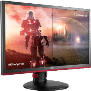 Monitor Gamer AOC LED 24´ Widescreen, Full HD, HDMI/VGA/DVI/Display Port, FreeSync, Som Integrado, 144Hz, 1ms, Altura Ajustável - G2460PF