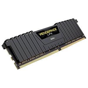 Memória Corsair Vengeance LPX 8GB 2400Mhz DDR4 C16 Black - CMK8GX4M1A2400C16