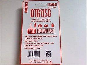ADAPTADOR LEITOR DE CARTAO OTG V8  USB LELONG LE-5555