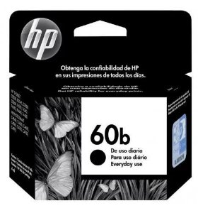 CARTUCHO HP 60 B PRETO ORIGINAL