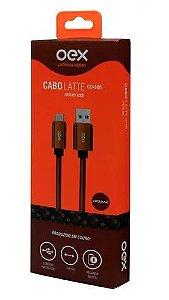 CABO DE DADOS DE COURO MICRO USB (RISTRETTO) OEX CC300