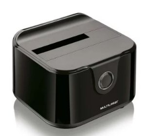 DOCKING STATION PARA HD 2,5/3,5POL SATA - 1 BAIA - USB3.0 MULTILASER GA125