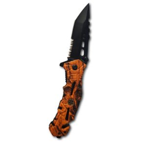 Canivete Camuflado Laranja HZ 0228