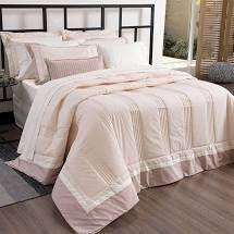 Cobre leito Antares King sal rosa