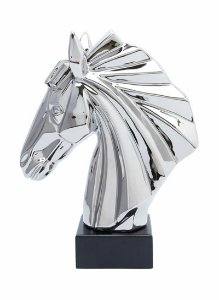 Estatueta de cavalo metálica