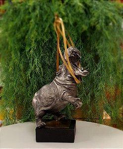 Estatueta de hipopótamo 2 em 1