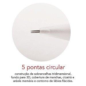 Agulha 5 pontas circular - Mag Estética 10 unid