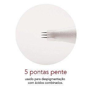 Agulha Ponta Pente - Mag Estética 10 unid