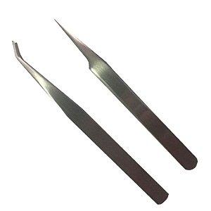 Par de Pinças para Alongamento de Cílios 12cm