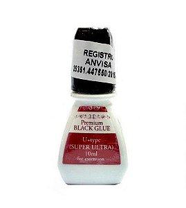 Cola Profissional para Alongamento de Cílios Fio a Fio - Premium Black Super Ultra 10ml