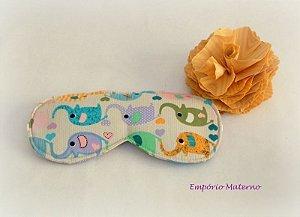 Máscara relaxante para os olhos - elefantinhos