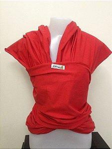 Wrap sling de malha 100% algodão - Vermelho