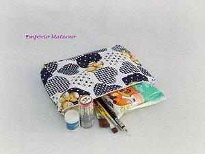 Kit para pintura de barriga - ursos patchwork azul