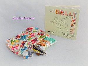 Livro Belly Mapping + kit para pintura de barriga - borboletas II