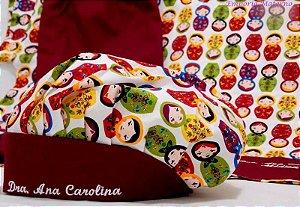 Toucas personalizada Matrioskas - Com bordado - Confecção 3 dias úteis