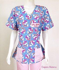Pijama Manga Curta Feminino - Confecção 7 dias úteis