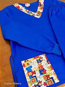 Pijama Cirúrgico - Gola V - Liso com Detalhes Estampados - Sem Bordado - CORES OPCIONAIS