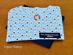 Pijama Cirúrgico -  Gola V - Manga Japonesa Blusa Estampada Baby 03 - Confecção 7 dias úteis