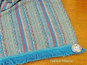 Rebozo Nacional - Multicor Azul Mexicano
