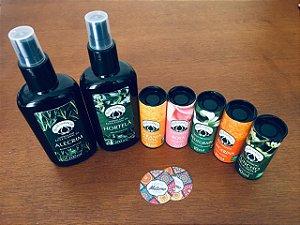 Kit hidrolatos e óleos essenciais