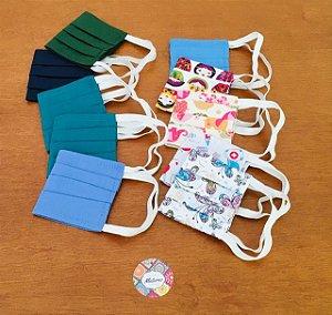 kit com 10 máscaras de tecido dupla - As máscaras de tecido são para pessoas saudáveis. Cores sortidas!