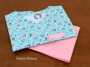 Pijama Cirúrgico - Gola V - Manga Japonesa - Estampado Digital Bailarinas 02 - LEIA A DESCRIÇÃO