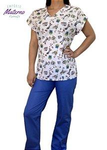 Pijama Cirúrgico - Gola V - Manga Japonesa - Blusa Estampada Toy Story 1 Lançamento  - Leia a Descrição