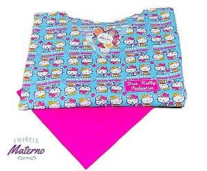 Pijama Cirúrgico - Gola V - Manga Japonesa - Blusa Estampada Hello Kitty digital 01 -Leia a Descrição