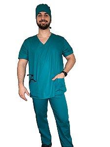 Pijama Cirúrgico - Verde Tiffany - Masculino