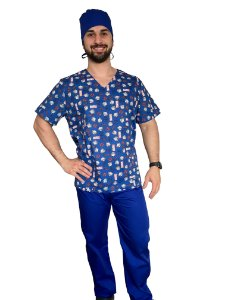 Pijama Cirúrgico Masculino - Thor - 01