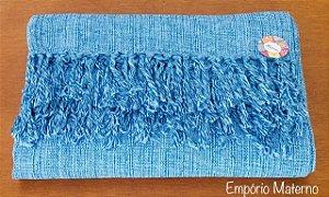 Rebozo Nacional - Azul Mesclado com azul