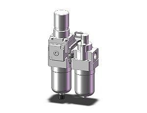 AC20A-F02-B LUBRIFIL COMPLETO SEM MANOMETRO ROSCA 1/4 - SERIE AC-B SMC