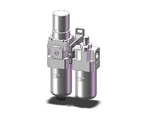 AC30A-F03-B LUBRIFIL COMCOMPLETO SEM MANOMETRO ROSCA 3/8 - SERIE AC-B SMC