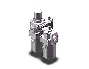 AC40A-F04-B LUBRIFIL COMPLETO SEM MANOMETRO ROSCA 1/2 - SERIE AC-B SMC